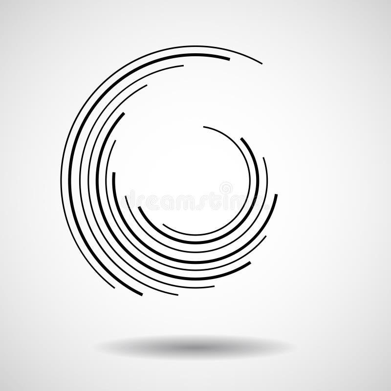 Cercles abstraits de technologie, logo géométrique illustration stock