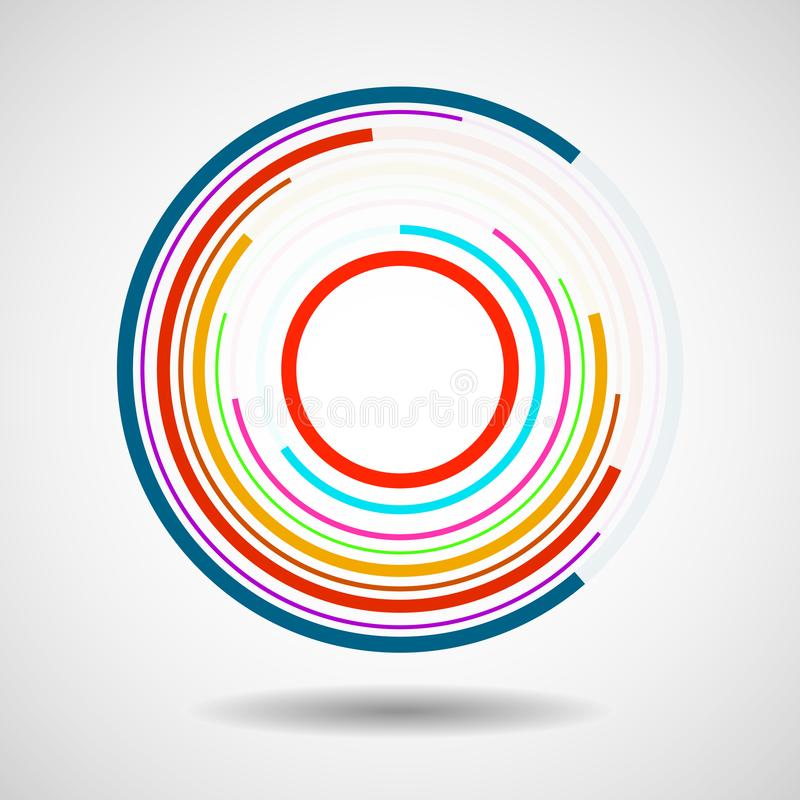 Cercles abstraits de technologie, logo géométrique illustration libre de droits