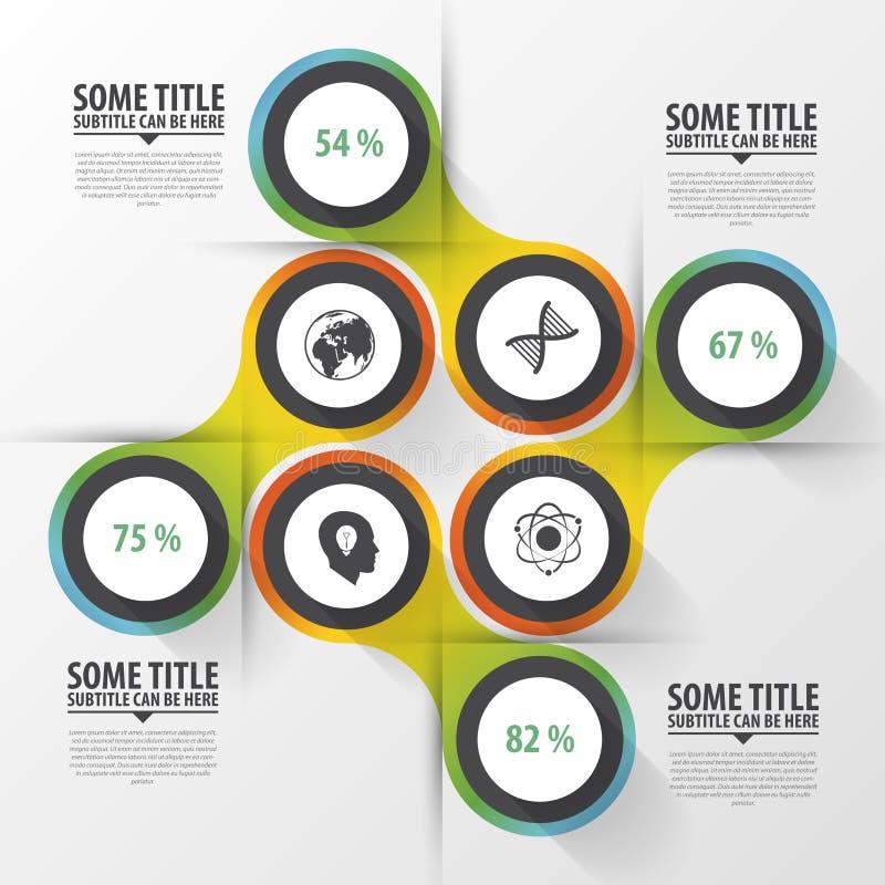 Cercles abstraits descripteur moderne de conception Concept d'Infographics Illustration de vecteur illustration de vecteur