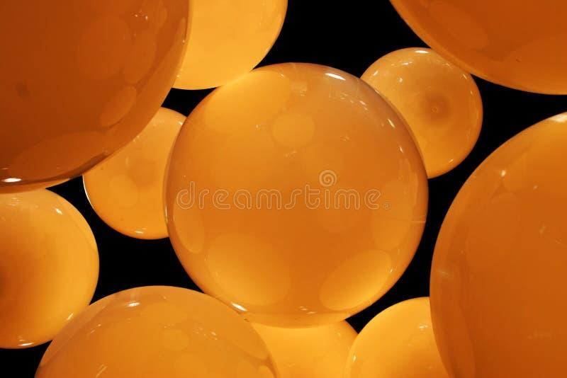 Cercles ambres photo stock