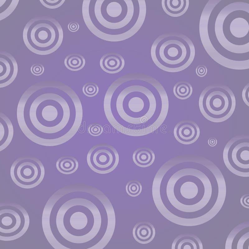 Cercles argentés sur un fond lilas photos stock