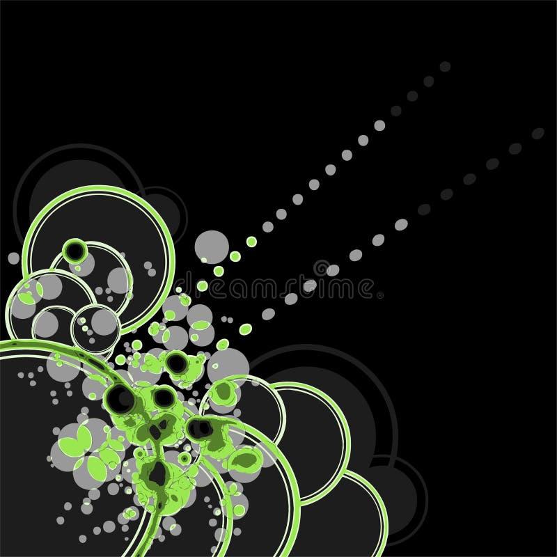 Cercles au néon illustration stock