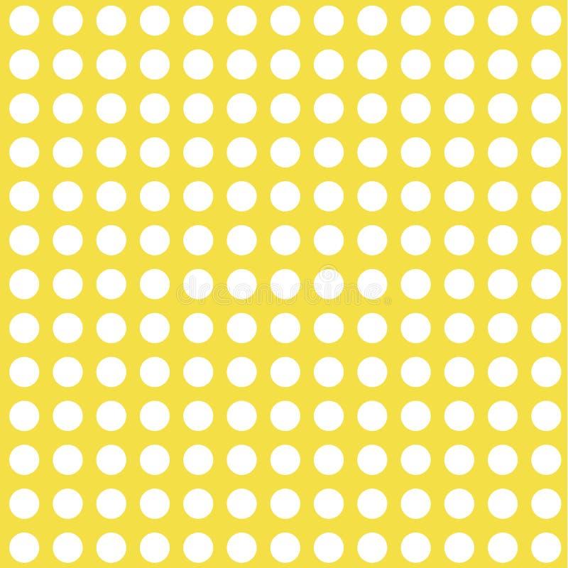Cercles blancs sur le fond jaune illustration libre de droits