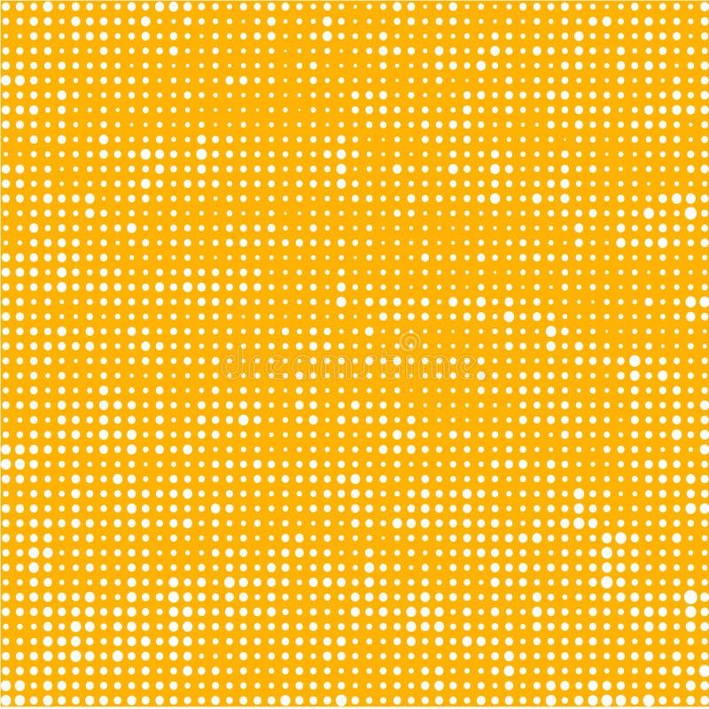 Cercles blancs sur le fond jaune illustration stock