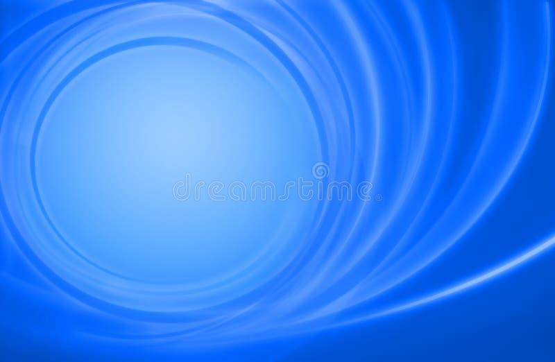 Cercles bleus abstraits d'énergie de pouvoir de fond illustration stock