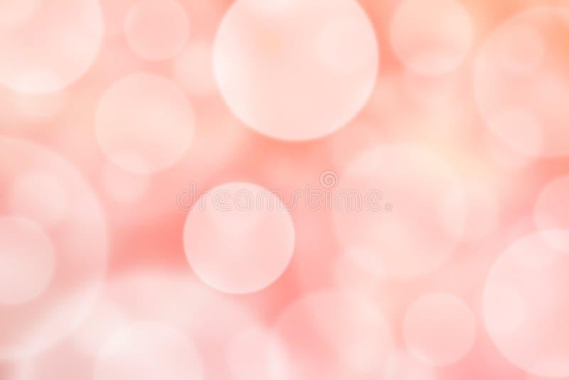 Cercles brillants brouillés par résumé à l'arrière-plan rose illustration libre de droits