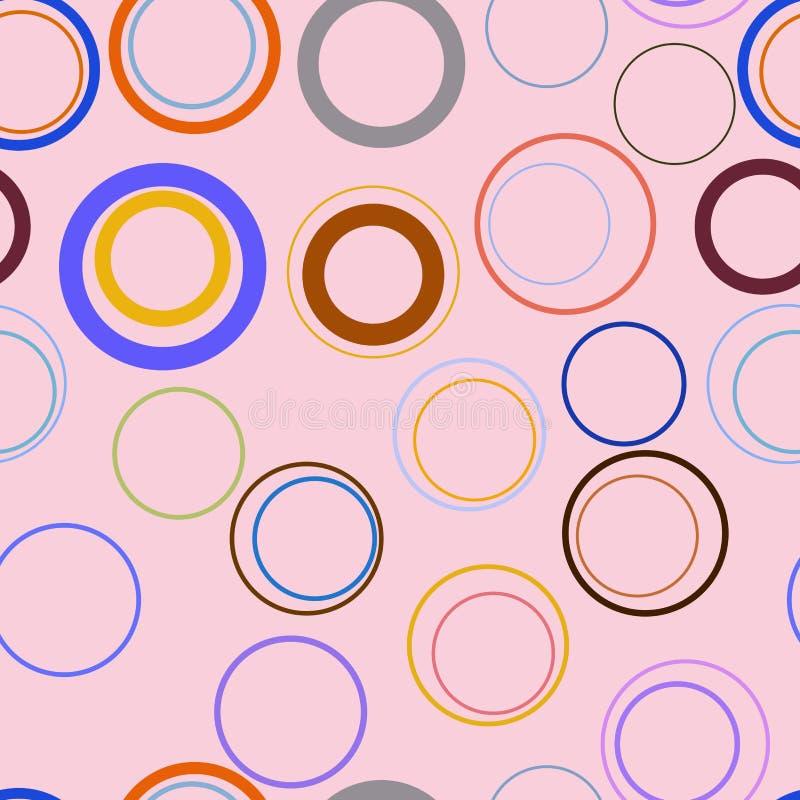 Cercles, bulles, sphère ou modèle géométrique conceptuelle abstraite sans couture d'ellipses Effet, art, couleur et fond illustration libre de droits
