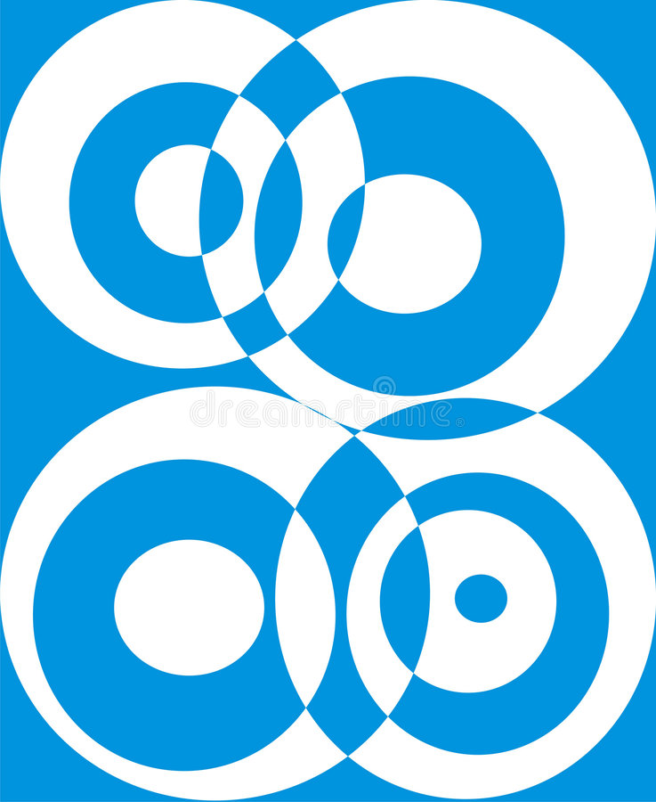 Cercles cassés sur un bleu illustration de vecteur