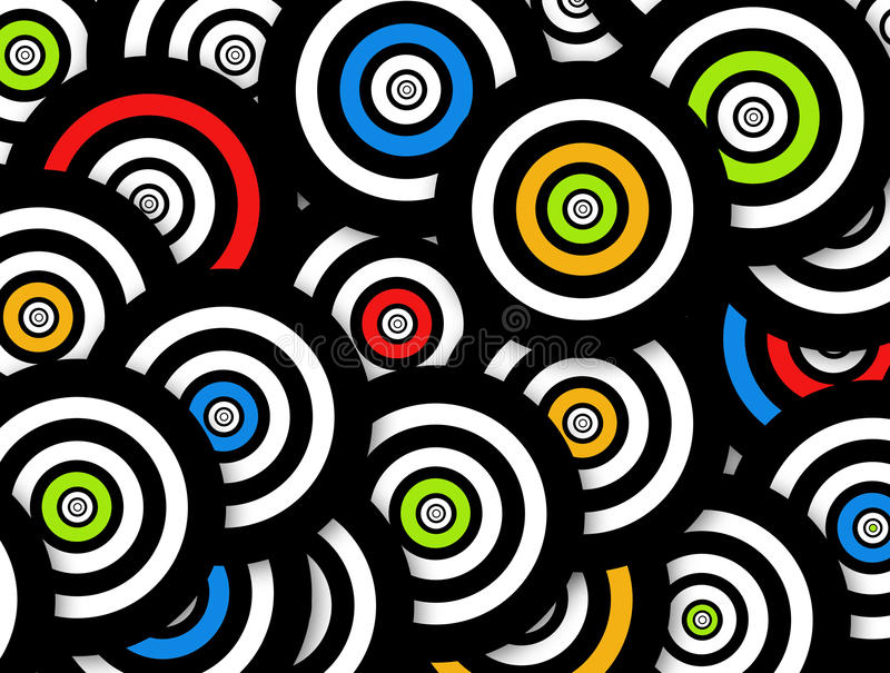 Cercles colorés illustration stock