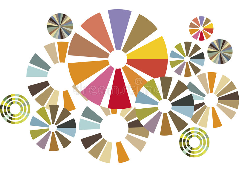 Cercles colorés illustration libre de droits