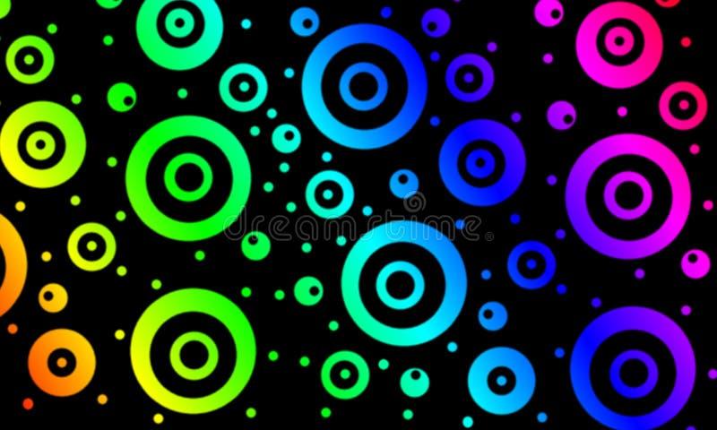 Cercles colorés illustration stock