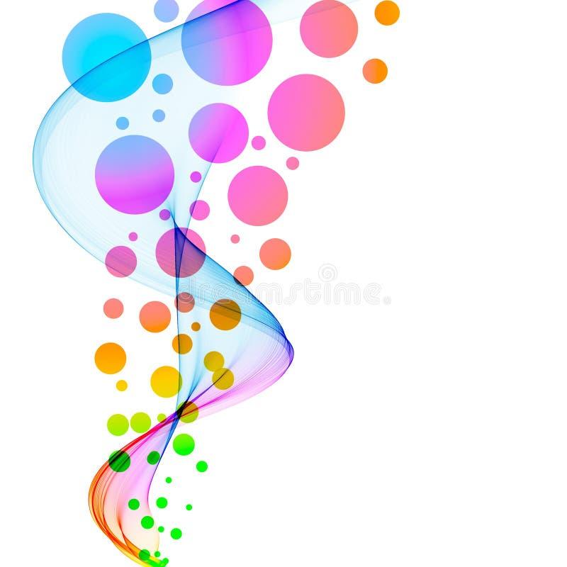 Cercles colorés abstraits illustration de vecteur