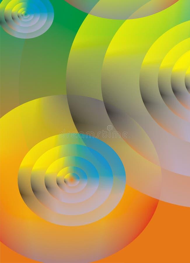 Cercles colorés abstraits illustration libre de droits