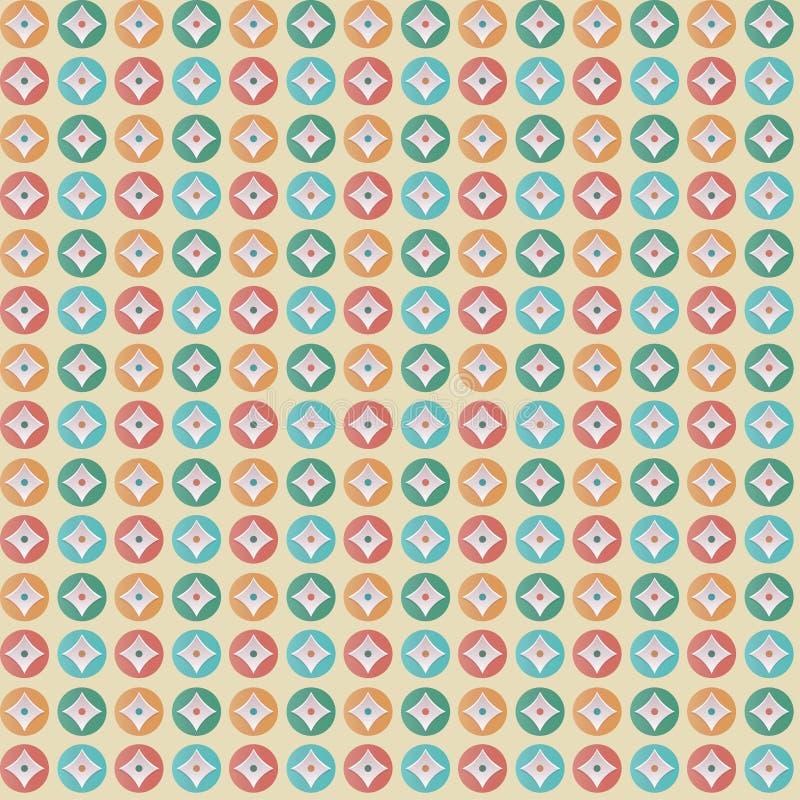 Cercles colorés de modèle géométrique photos libres de droits