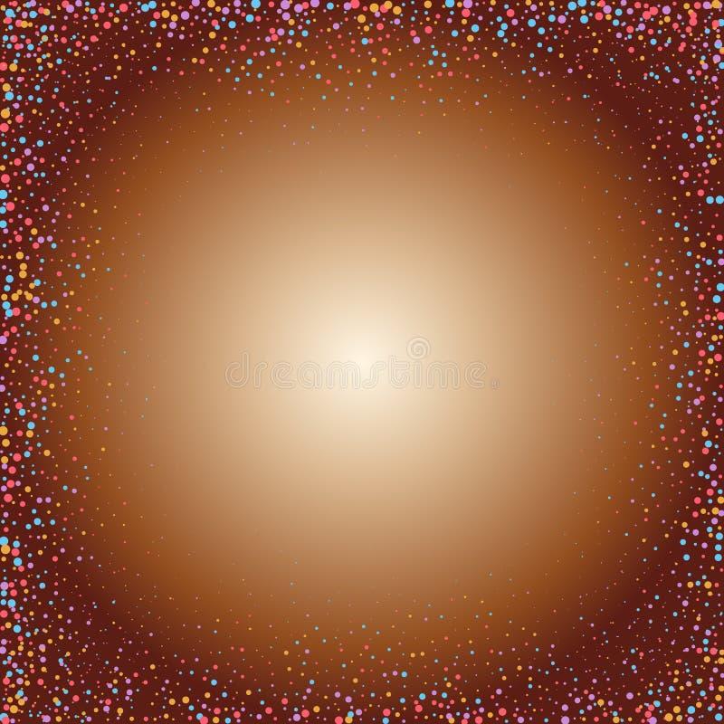 Cercles color?s sur un fond d'or - Vektorgrafik ENV 10 illustration stock