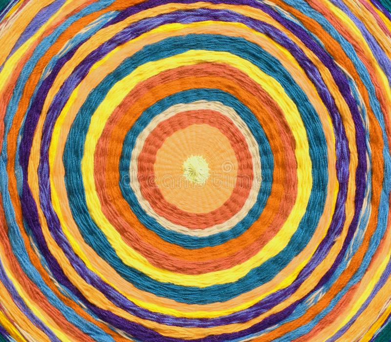 cercles concentriques pour former une cible faite de textiles tissés photographie stock libre de droits
