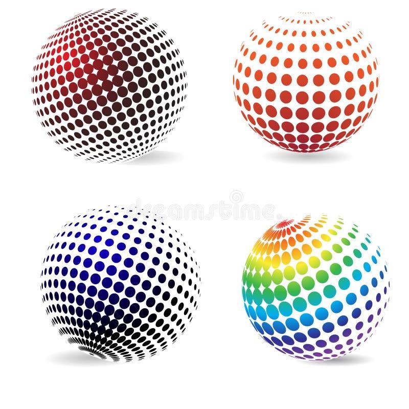 Cercles d'image tramée de couleur. illustration libre de droits