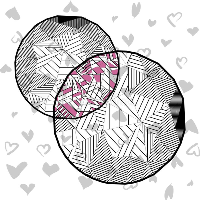 Cercles dans le bas poly style illustration de vecteur