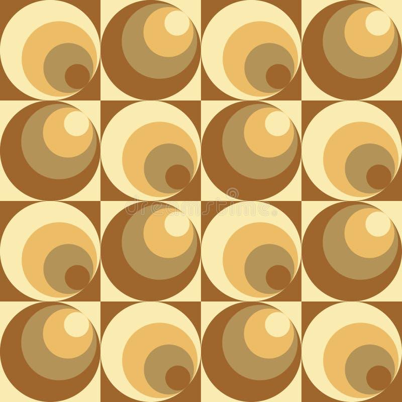 Cercles dans le modèle de cercles illustration de vecteur