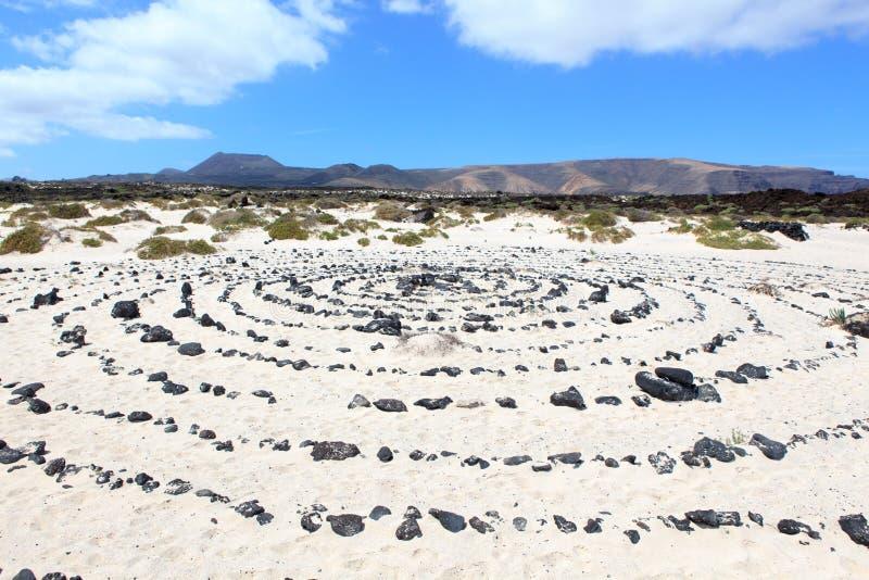 Cercles dans le sable photo libre de droits
