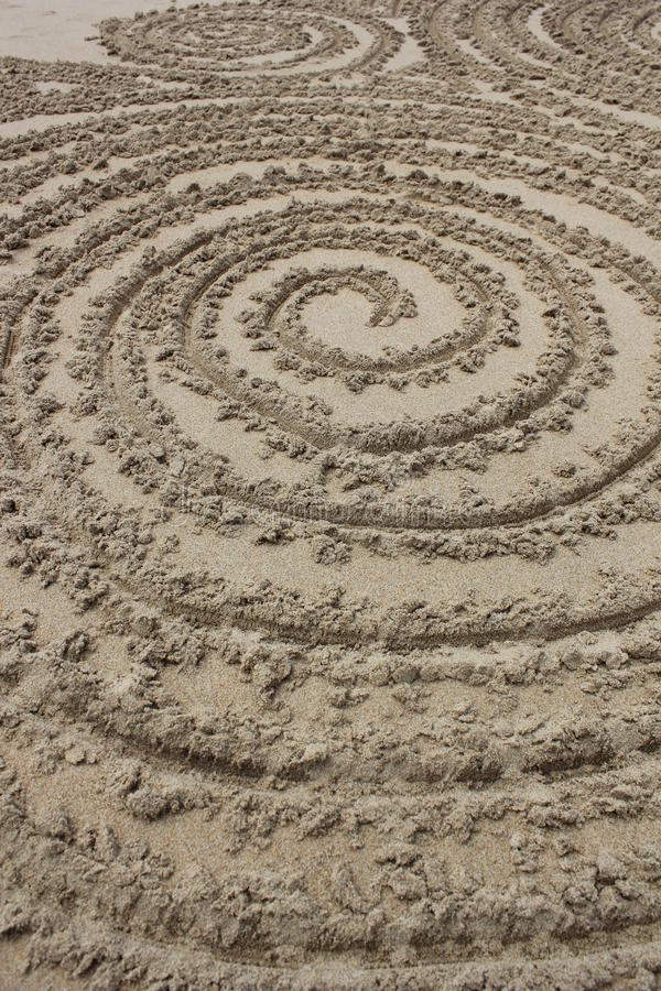 Cercles dans le sable photos libres de droits