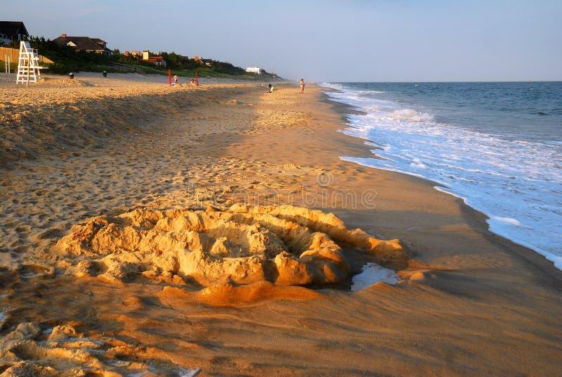 Cercles dans le sable photos stock