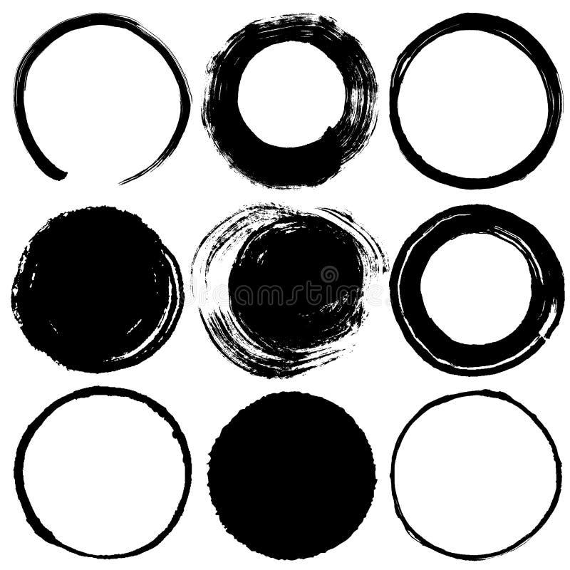 Cercles de course de brosse illustration stock