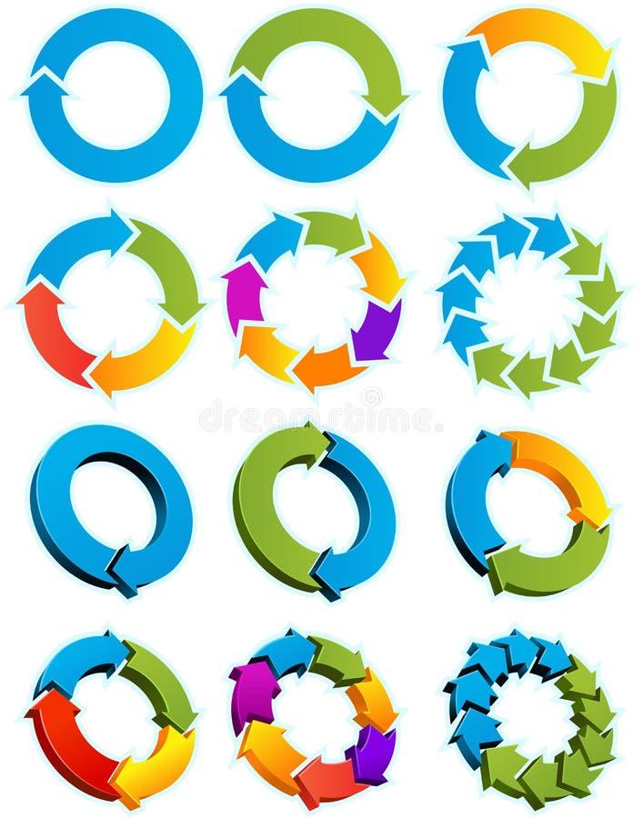 Cercles de flèche illustration stock