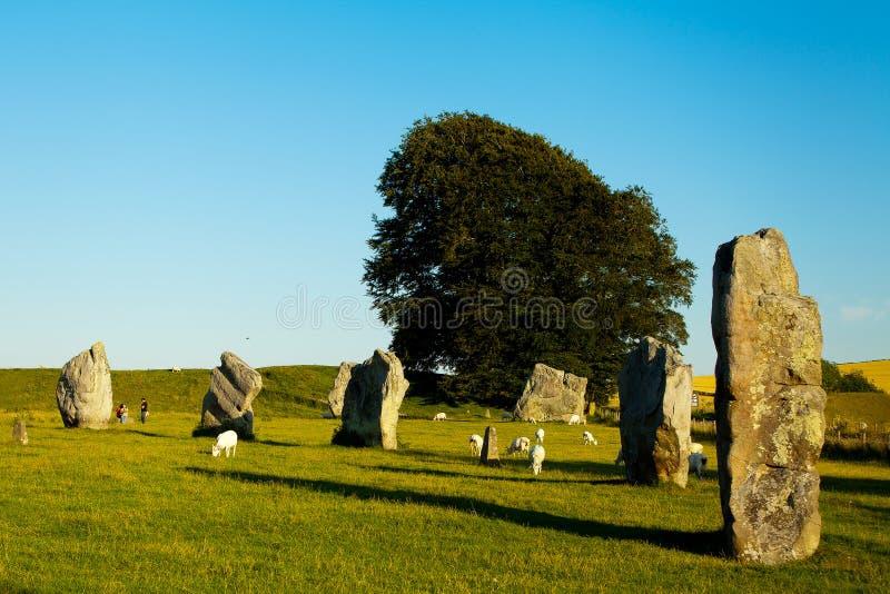 Cercles de henge et de pierre d'Avebury photos stock