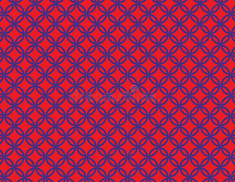 Cercles de interconnexion rouges et bleus illustration libre de droits