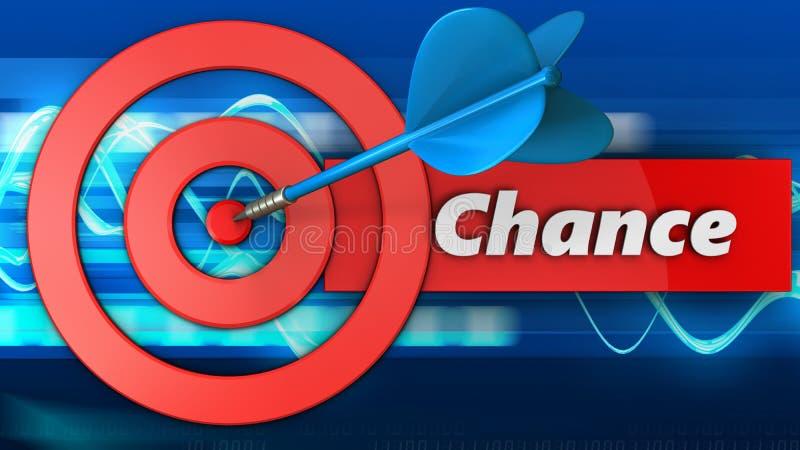 cercles de la cible 3d avec le signe d'occasion illustration libre de droits
