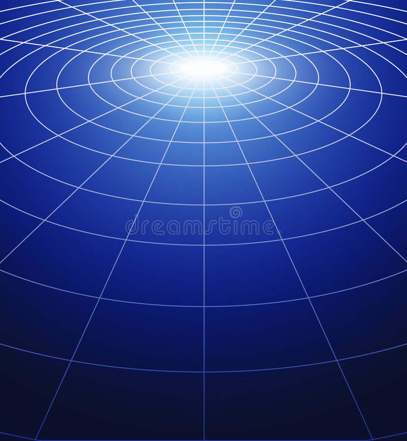 Cercles de lumière illustration de vecteur