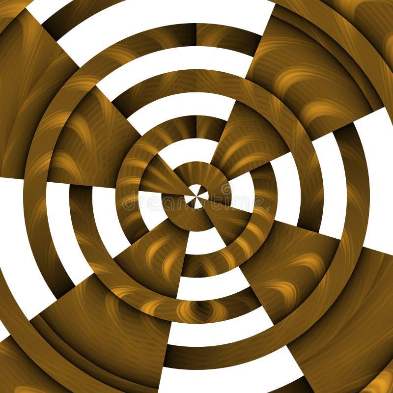 Cercles en métal d'or, fond abstrait illustration libre de droits