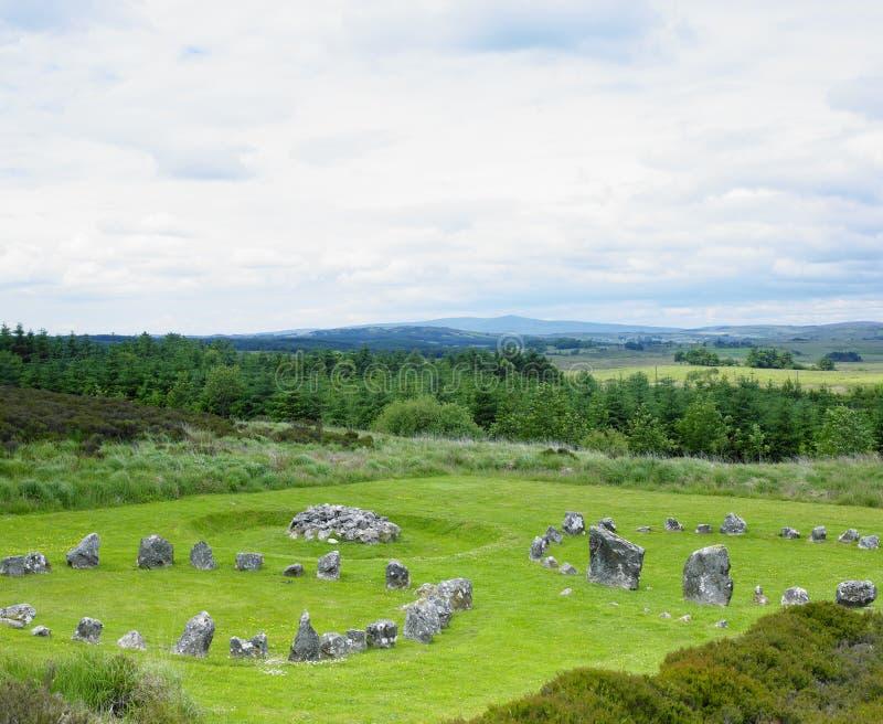 Cercles en pierre, Beaghmore images stock