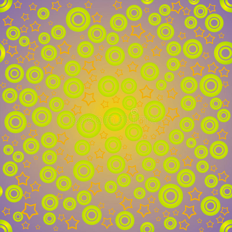 Cercles et étoile verts illustration de vecteur