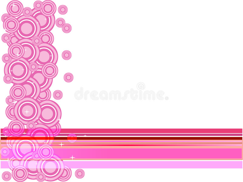 Download Cercles et étoiles roses illustration de vecteur. Illustration du pastel - 4350297