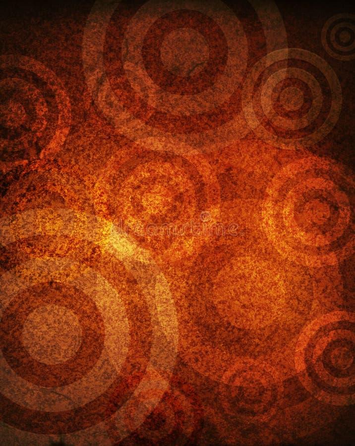 Cercles grunges illustration de vecteur