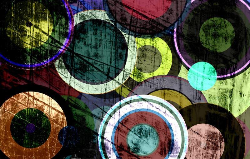 Cercles grunges sur le mur illustration libre de droits
