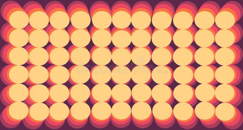 Cercles jaune-orange de gradient de fond de résumé illustration libre de droits
