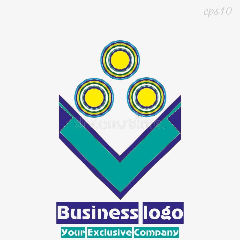 Cercles lumineux du logo trois illustration stock