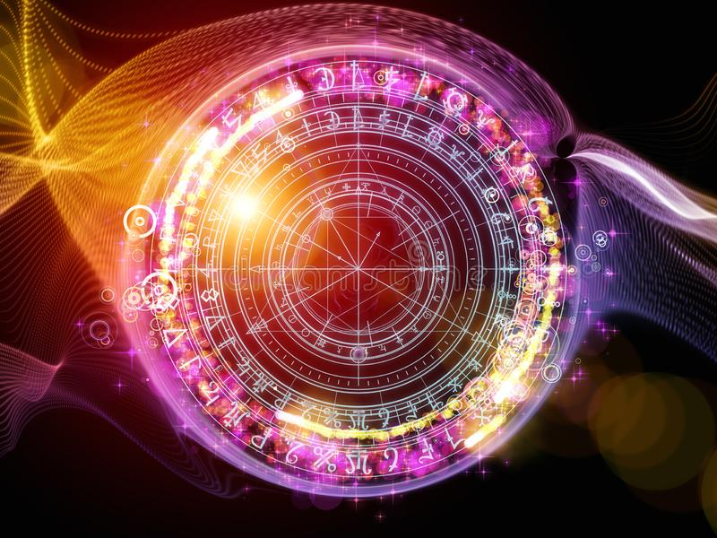 Cercles occultes illustration stock