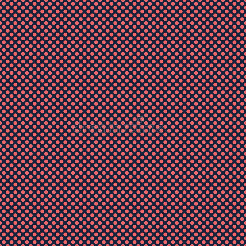 Cercles rouges de point de polka de bleu marine Fond sans couture de mod?le de vecteur Style tir? par la main de texture Petite i illustration libre de droits