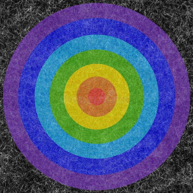 Cercles sur un mohair image stock