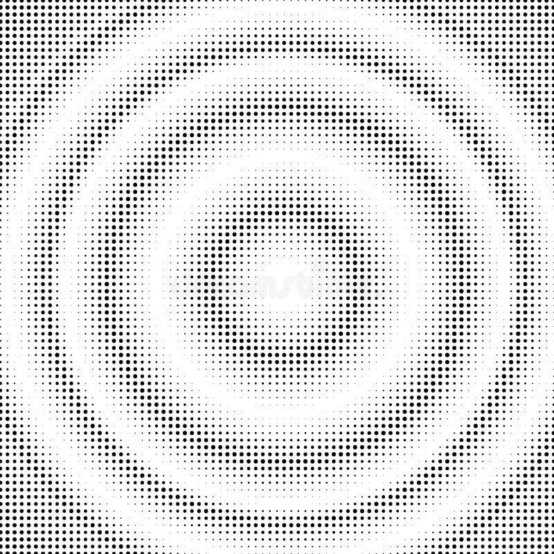 Cercles tramés abstraits Calibre de fond pointillé par gradient Illustration d'art de bruit illustration de vecteur