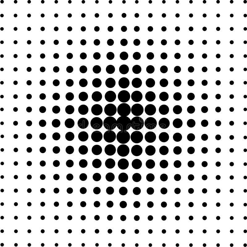 Cercles tramés, modèle de point tramé illustration stock