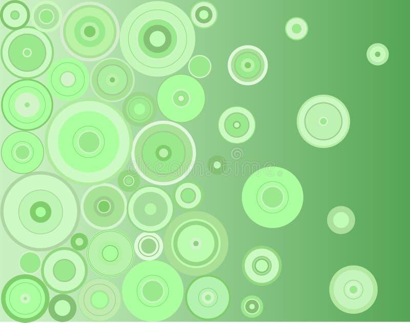 Cercles verts illustration de vecteur