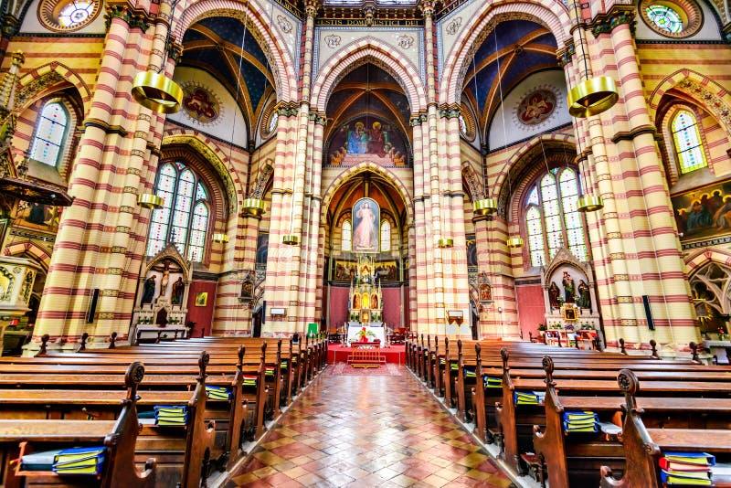 Cerco del vom de Maria de la iglesia, Viena, Austria imagen de archivo libre de regalías