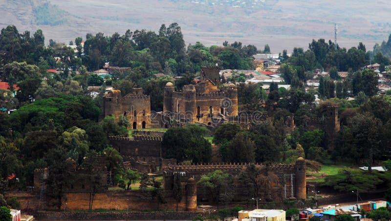 Cerco real de Fasil Guebbi, Gondar, Etiópia fotografia de stock