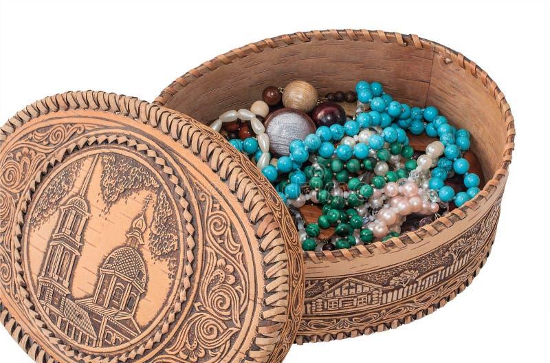 Cercueil de Berestovaya avec des perles image stock