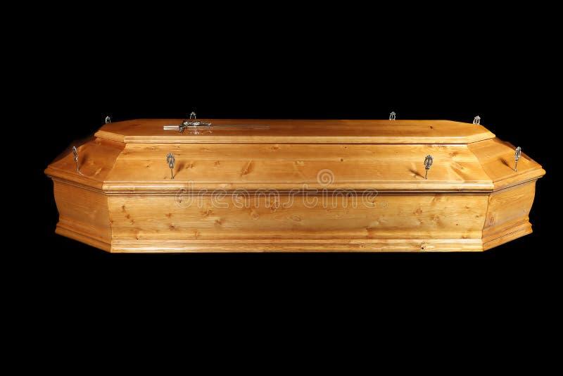Cercueil de Brown photographie stock libre de droits